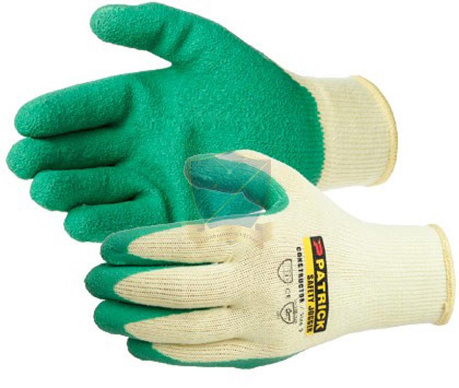 Găng sợi tráng nhựa Mỹ màu xanh chống trơn,chống hóa chất,chống cắt GTS-VN-01