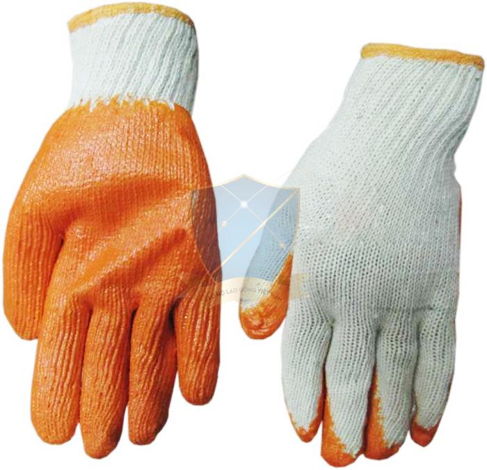 Găng sợi tráng nhựa Trung Quốc dày, màu cam chống trơn, nóng GTS-VN-08