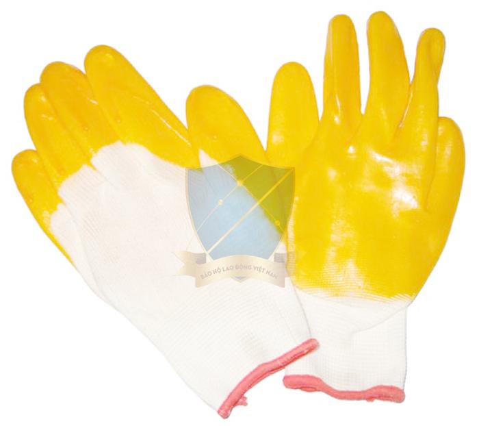 Găng sợi tráng nhựa Đài Loan màu vàng chống trơn, hóa chất GTS-VN-03