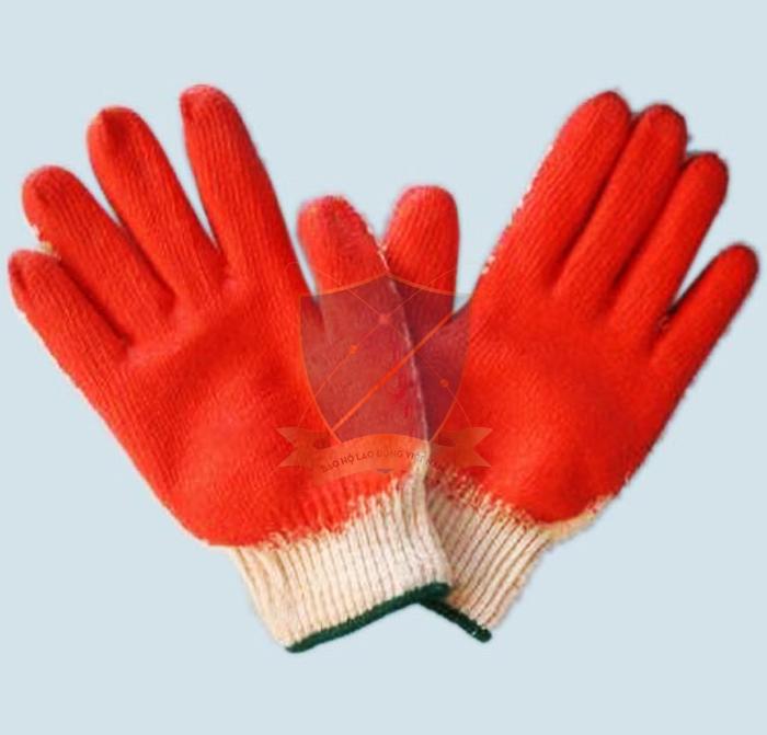 Găng sợi tráng sơn đỏ chống trơn GTS-VN-07
