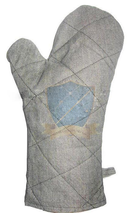Găng vải bò chống nóng, 2 ngón, lót nỉ dày  GTV-VN-01
