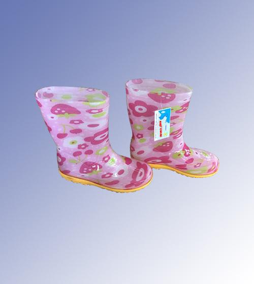 Ủng trẻ em màu hồng hình bông hoa UCS-VN-58