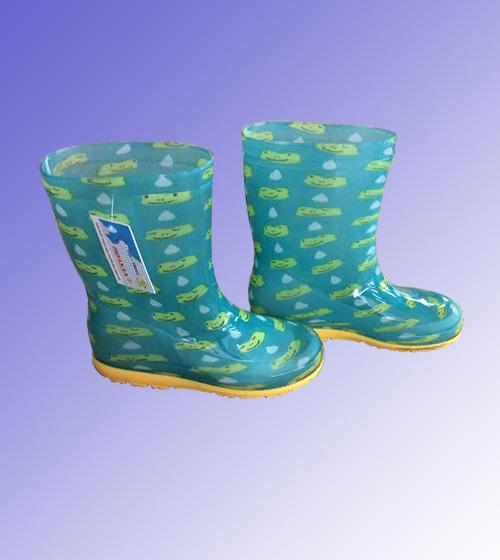 Ủng trẻ em màu xanh ngọc hình chú ếch  UCS-VN-56
